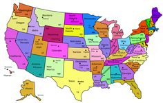 directions map united states: