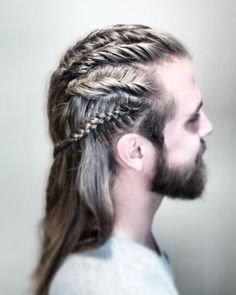 53 Viking Hairstyles for Men You Need To See! Mens Hairstyles With Beard, Mens Braids Hairstyles, Viking Hairstyles, Blonde Hairstyles, Hairstyle Ideas, Cool Braids, Braids For Short Hair, Short Hair Styles, Man Braids