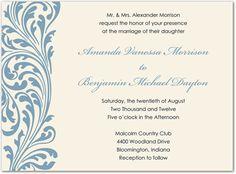 Vintage Ornate Flourish Casual Wedding Invitations, Elegant Invitations, Invites, Flourish, Reception, Marriage, Vintage, Valentines Day Weddings, Receptions