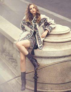 Sanne Vloet by David Bellemere for Vogue Spain September 2015 - Isabel Marant