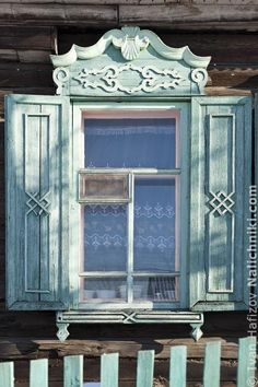 traditional decorative carved wood window frame + shutters, nerchinsk, russia | architectural details