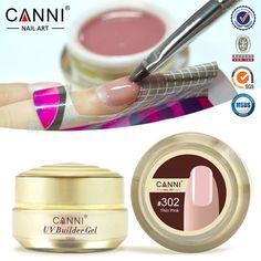 CANNI Natural Nude Pastel Color UV Builder Gel Camouflage UV Gel Acrylic for Nail Art False Tips Extension 15 Colors 15ml 1PCS