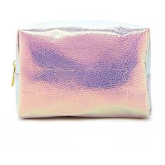 Forever21 Holographic Pebbled Makeup Bag (21 BRL) ❤ liked on Polyvore featuring beauty products, beauty accessories, bags & cases, forever 21, cosmetic bags, make up bag, toiletry kits and makeup purse