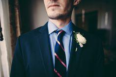 Bowery Hotel Wedding | Groom Suit and Tie J.Crew