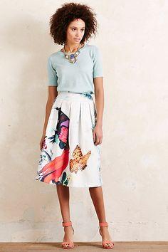 Anthropologie EU Papillon Pleated Skirt