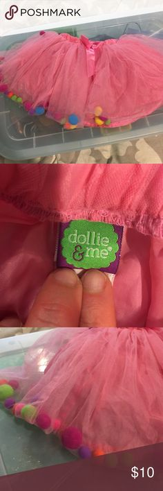 Girls small dolly and me pom-pom tu tu dress up Girls small dolly and me pom-pom tu tu dress up. Pink lined Dollie & Me Costumes Dance
