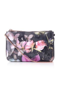 67cb2961b776 Ted Baker Womens Accessories carlie shadow floral crosshatch zip crossbody Ted  Baker Accessories