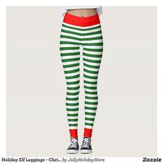 db89b9d56d73f2 Holiday Elf Leggings - Christmas Elf Costume Pants Christmas Elf Costume,  Christmas Decorations, Leggings