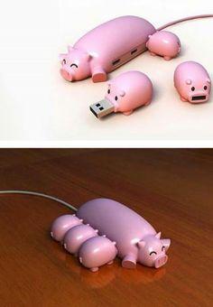 Cute little USB piggies. The 3 little piggies must be USB :D