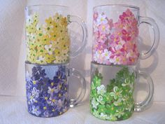 Hand Painted  Coffee Mugs Custom Coffee by RococoDecorativeArt, $40.00