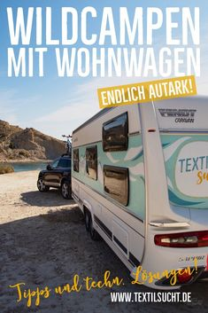 Autarker Wohnwagen: Unser Abenteuer Freicampen im Caravan Self-sufficient caravan: Our free camping adventure in a caravan Vintage Caravans, Vintage Travel Trailers, Caravan Vehicle, Fendt Caravan, Caravan Hacks, Van Life Blog, Rv Upgrades, Croatia Travel Guide, Travel Itinerary Template