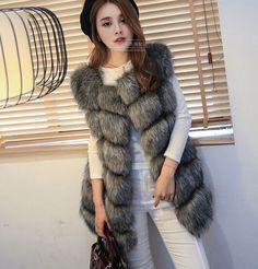 Check out more products we are selling :2015 Winter Coat Women Fashion Fox Faux Fur Vest High Grade Sleeveless Jacket. 2015 Winter Women Faux Fur Coat Outwear Warm Sleeveless Jacket.