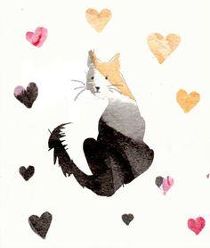 kitty love print cat lover art home decor by ImYourNonny on Etsy, $12.00
