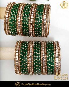 Punjabi Bangles - Buy Latest Punjabi Bangles Online In At Best Price Indian Bangles, Indian Jewelry, Silk Thread Bangles Design, Bridal Chuda, Bridal Bangles, Gold Jewellery Design, Bangle Set, Krishna, Jewelry Collection