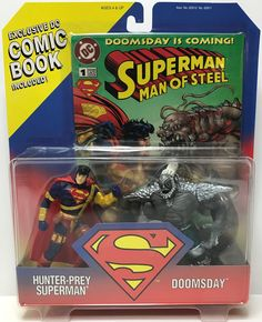 The Angry Spider has the best toys: TAS038732 - 1995 ...  Take a look: http://theangryspider.com/products/tas038732-1995-kenner-hunter-prey-superman-vs-doomsday-comic?utm_campaign=social_autopilot&utm_source=pin&utm_medium=pin