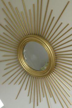 march with a K: DIY sunburst mirror