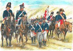 Voluntarios Leon. Campaign and War Spain 1808/1814. Illustration by Francisco Santiago Vela