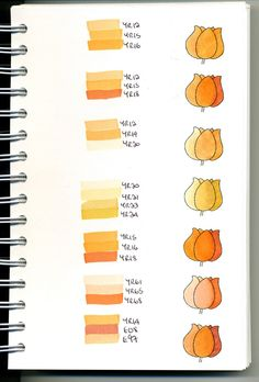 Copic Swatch Book - orange/yellow - bjl