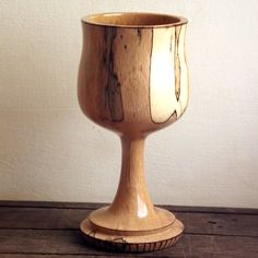 Wood Goblet  Turned from Spalted Beech. Wood by FluffyFenris, £15.00