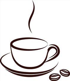 cup of coffee vector art illustration artt pinterest
