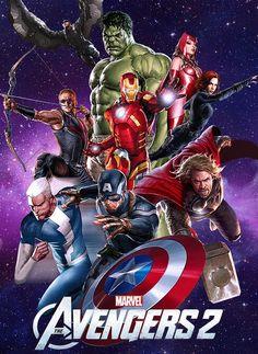The Avengers 2 Poster by on DeviantArt Marvel E Dc, Marvel Comics Art, Disney Marvel, All Avengers, Young Avengers, Ben 10 Comics, Avengers Wallpaper, Superhero Movies, Marvel Cinematic Universe
