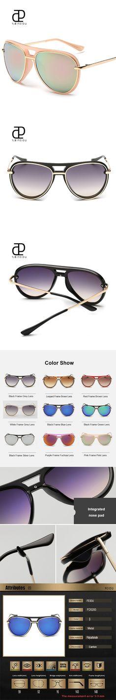 FEIDU 2016 Classic Sunglasses Women Oversized Coating Mirror Driving Sun  Glasses For Women UV400 Gafas Oculos De Sol Feminino  12.66 05320b8d16