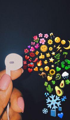 Cool Wallpapers Iphone X, Emoji Wallpaper Iphone, Cute Emoji Wallpaper, Music Wallpaper, Tumblr Wallpaper, Cute Cartoon Wallpapers, Aesthetic Iphone Wallpaper, Boxing Day, Music Emoji