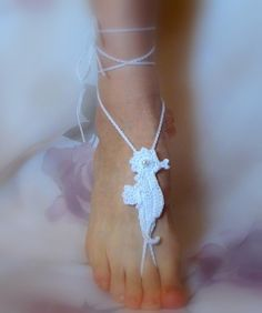 Yes I can ! / Download Seahorse Crochet Barefoot Sandals Sewing Pattern | Crochet/Knitting | YouCanMakeThis.com
