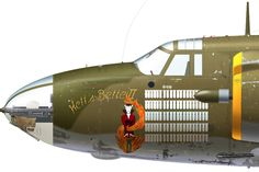 B-26B-10-MA 41-8322 B/N 64 'Hell's Belle II' flown by Lt JH Logan of the 439th BS, 319th BG