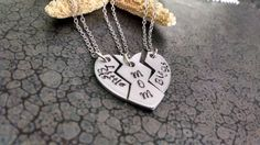 Hey, I found this really awesome Etsy listing at https://www.etsy.com/listing/225680814/3-piece-heart-necklace-mother-daughter