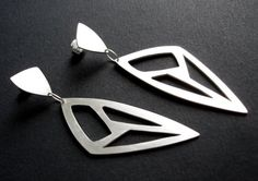 Sterling Silver Long Triangle Geometric Cut-Out by tothemetal