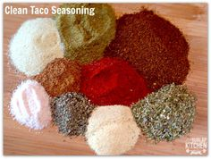 Clean Taco Seasoning - The Burlap Kitchen Salad Recipes 21 Day Fix, 21 Day Fix Recipies, Homemade Spices, Homemade Taco Seasoning, Mexican Food Recipes, Real Food Recipes, How To Make Sauce, Burlap Kitchen, Taco Love