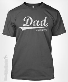 DAD Since ANY YEAR vintage  custom gift idea for by TheShirtDudes, $14.95