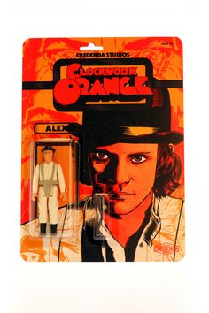 "Clockwork Orange (LE 13) $60 This 3.75"" resin action figure is a parody of everyone's favorite droog, Alex, that was hand-cast and hand-painted by Credenda Studios, packaged in a blister bubble on a full color, double-sided 7 x 9.5 in. backing card. Limited to an edition of 13 pieces worldwide, each signed on the back, the piece also includes Alex's iconic sword cane acces"