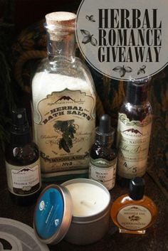 OUH what yummy treats for share with yours truely! http://mountainroseblog.com/herbal-romance-giveaway/
