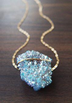 SALE Spirit Quartz Druzy Gold Necklace by friedasophie on Etsy Cute Jewelry, Jewelry Box, Jewelery, Jewelry Accessories, Fashion Accessories, Jewelry Necklaces, Fashion Jewelry, Jewelry Design, Jewelry Making