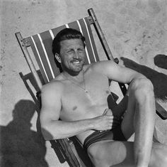 ...and dad Kirk Douglas