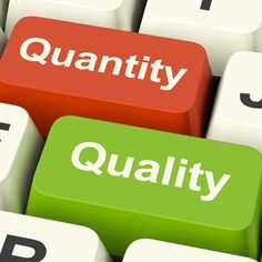 Why social media success is about quality not quantity, perfect for authors and writers.