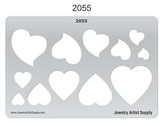 Playful Hearts Template