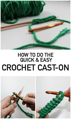 If you want a cast-on that's quick and matches your bind-off edge, try this simple crochet method.