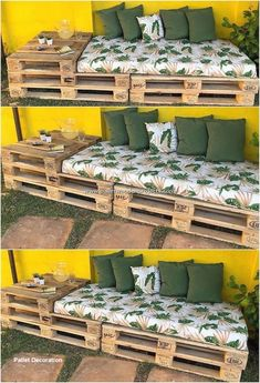 DIY backyard pallet projects, # DIY # Home & Garden # pallets . - DIY pallet projects in the backyard, # DIY - Pallet Garden Furniture, Diy Furniture Projects, Furniture Design, Furniture Storage, Easy Projects, Pallets Garden, Furniture Makeover, Repurposed Furniture, Furniture Plans
