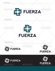 Fuerza Abstract Logo Design - ABS-033 Full Vector Logo Design  Graphics Files Included: 1- logo.eps 2- logo.pdf 3- logo.ai 4- fuerza-logo.jpg  Fonts used in the design are free fonts. Font Name: Nevis Bold
