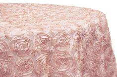 Give your party tables a spring garden look with our Premium Wholesale Rosette Satin Round Tablecloths. Shop CV Linens now for elegant tablescape ideas! Rosette Tablecloth, 120 Round Tablecloth, Beautiful Wedding Cakes, Gorgeous Cakes, Floral Wedding Cakes, Wedding Flowers, Bowl Cake, Plan Your Wedding, Wedding Ideas