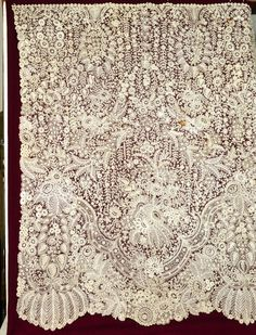 My choice for best lace from the 7/3/2016 Ebay Alerts. Brussels Duchesse skirt panel.