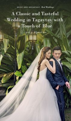 A Classic and Tasteful Wedding in Tagaytay with a Touch of Blue | https://brideandbreakfast.ph/2018/02/24/a-classic-and-tasteful-wedding-in-tagaytay-with-a-touch-of-blue/