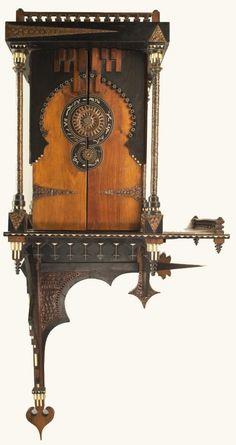 CARLO BUGATTI wall cabinet, c. 1898, The Mullin Automotive Museum