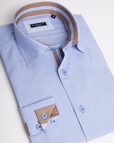 Men's designer shirts - Sheraton blue