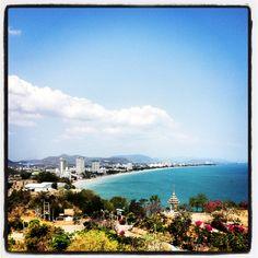 Khao takiab viewpoint looking down over Hua Hin