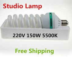 Cheaper US $8.16  220V 150W 5500K E27 Photo Studio Lamp Video Photography Daylight Continuous dayLight Lamp Bulb Energy Saving CFL  #Photo #Studio #Lamp #Video #Photography #Daylight #Continuous #dayLight #Bulb #Energy #Saving  #Online