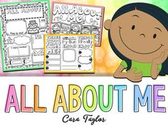 This All About Me resource contains four projects perfect for back to school and community building!  There is a poster, brochure, book, and interactive notebook printables included.